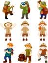 Set of Adventurer people Royalty Free Stock Photo