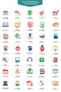Set of Advertising icons,Colorful version Royalty Free Stock Photo