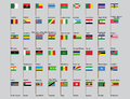 Set of African countries flags Royalty Free Stock Photo