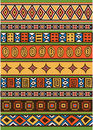 Set of African pattern Royalty Free Stock Photo