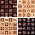 Set of African Seamless Tiles Royalty Free Stock Images