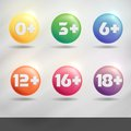 Set Of Age Restriction Signs. Royalty Free Stock Photo