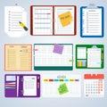 Set of agenda notebooks