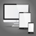 Set of all size screen devices for site preview Royalty Free Stock Photo