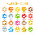 Set of allergen icons Royalty Free Stock Photo