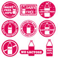 Set of allergen icons vector Royalty Free Stock Photo