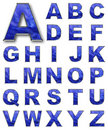 SET, alphabetical letters blue color Royalty Free Stock Image