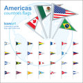 Set of americas flags vector illustration Stock Photography