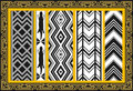 Set of ancient american indian patterns Stock Images