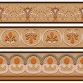 Set of ancient Roman ornaments  border patterns. Royalty Free Stock Photo
