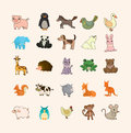 Set of animal icons Royalty Free Stock Photos