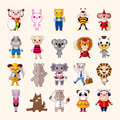 Set of animal icons cartoon vector illustration Stock Photography