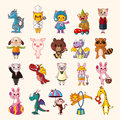 Set of animal icons cartoon vector illustration Stock Photo
