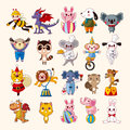 Set of animal icons cartoon vector illustration Royalty Free Stock Photography