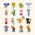 Set of animal icons cartoon vector illustration Royalty Free Stock Photos