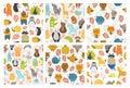 Set of animals backgrounds Royalty Free Stock Photo