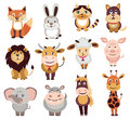 Set of animals icons Royalty Free Stock Photo