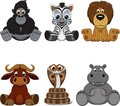 Set of animals vector illustration funny Stock Images