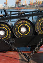 Set of  anti-submarine  deep bombs Royalty Free Stock Photo