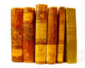 Set of antique books Royalty Free Stock Photos