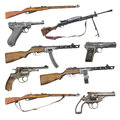 Set of antique firearms weapons Royalty Free Stock Photo