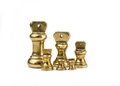 A set of antiques brass imperial weights Royalty Free Stock Photo