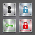 Set app icons metallic lock buttons collection vector Stock Photos
