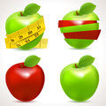 Set of apple icons vector illustration Royalty Free Stock Photo