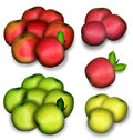 Set of apples Stock Photos