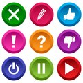 Set of application icon, menu icons. Vector illustration