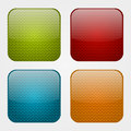 Set of apps icons with knitted pattern Royalty Free Stock Photo