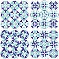 Set of arabesque seamless patterns, floor pattern, mandala, pattern background
