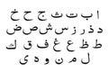Set of Arabic alphabet ,