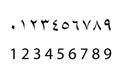 Set of arabic numbers ,