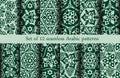 Set of 12 Arabic patterns