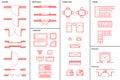 Set of Architectural Symbols Royalty Free Stock Photo