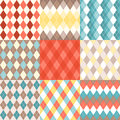 Set Of Argyle Seamless Pattern