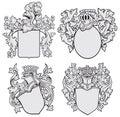 Set of aristocratic emblems No1