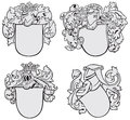 Set of aristocratic emblems No2 Royalty Free Stock Images