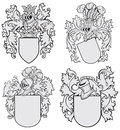 Set of aristocratic emblems No4 Stock Photography
