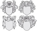Set of aristocratic emblems No5 Royalty Free Stock Photos