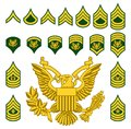 Military Army Enlisted Rank Insignia Royalty Free Stock Photo
