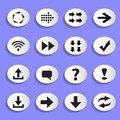 Set of Arrows on Buttons Royalty Free Stock Photo