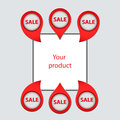 Set of arrows, pointers, to sell your products Royalty Free Stock Photo