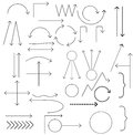 Set of arrows vector illustration. Royalty Free Stock Photo