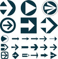 Set of arrows vector illustration on white Stock Photos