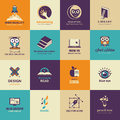 Set of art and education icons vector for Royalty Free Stock Photography