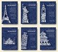 Set Of Art Ornamental Travel A...