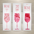 Set of art wine banners and labels Royalty Free Stock Photo