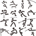 Set of athletics icons summer sports Royalty Free Stock Photography